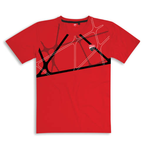 Graphic Net T-shirt Red