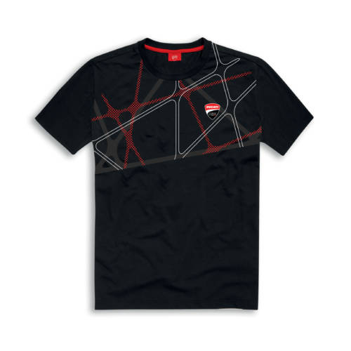 Graphic Net T-shirt Black